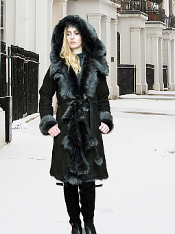 Higgs Leathers {32' to 44' bust!}  Anitas (ladies hooded Toscana Shearling coat) Fabulous hooded Shearling Dreamcoat!