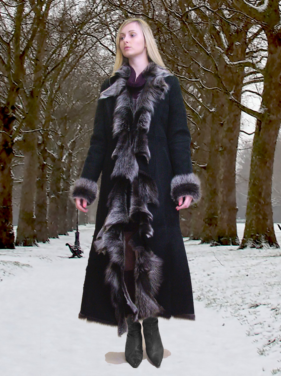 Higgs Leathers Anita (Designer style Toscana Shearling coat)