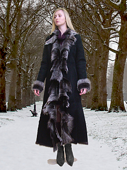 Higgs Leathers {32' to 44' bust}  Anita (Designer style Toscana Shearling coat)