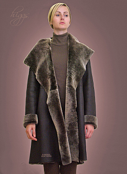 Higgs Leathers Caroline (ladies Nappa Merino Shearling coat)