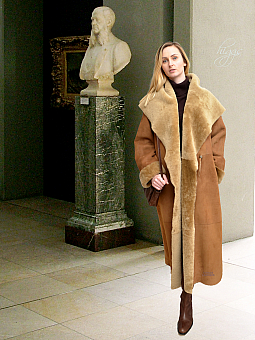 Higgs Leathers Caroline (ladies Merino Shearling long coat)
