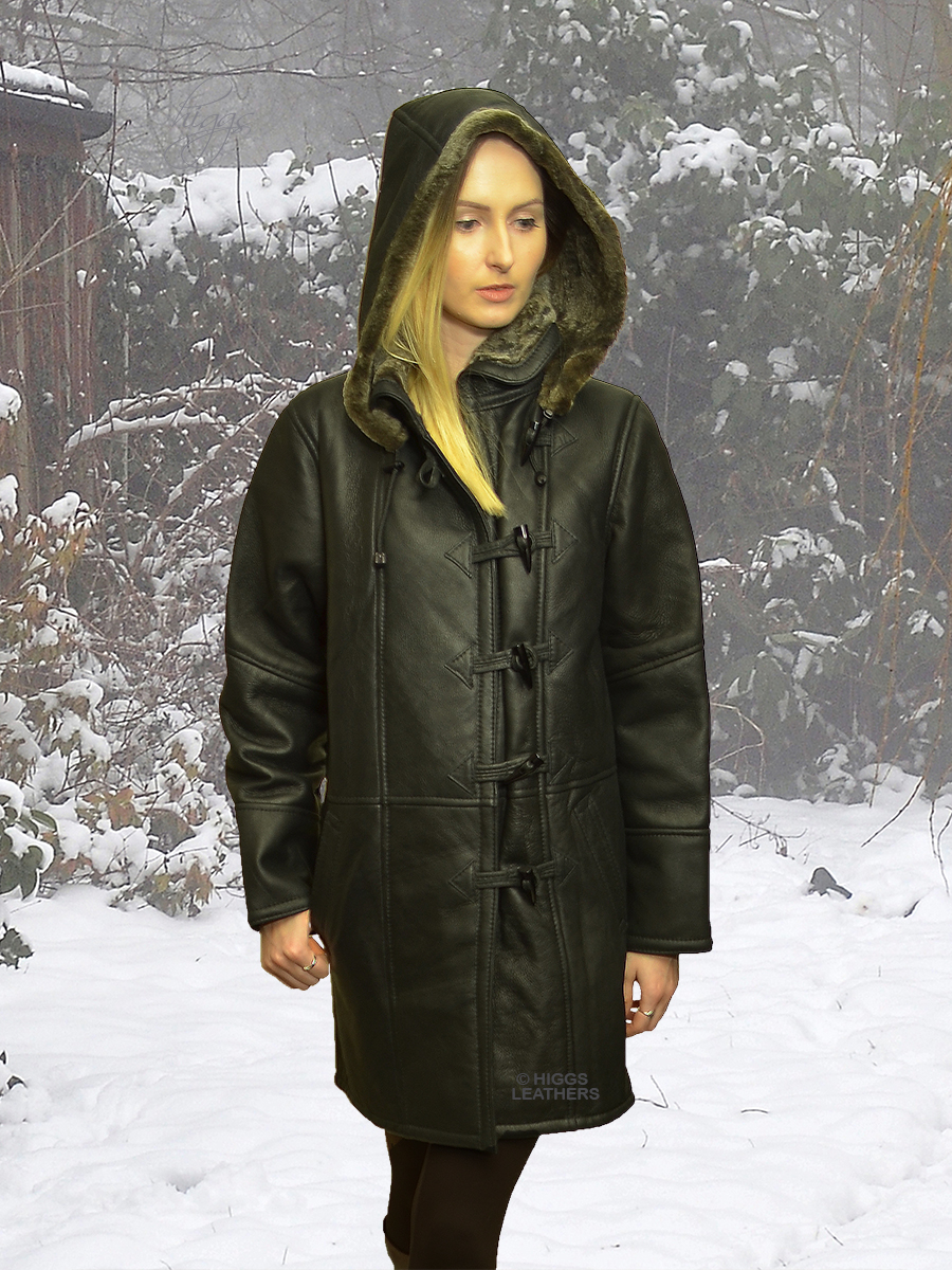 Higgs Leathers {LAST ONE SAVE £200!}  Davina (womens hooded Shearling coat)