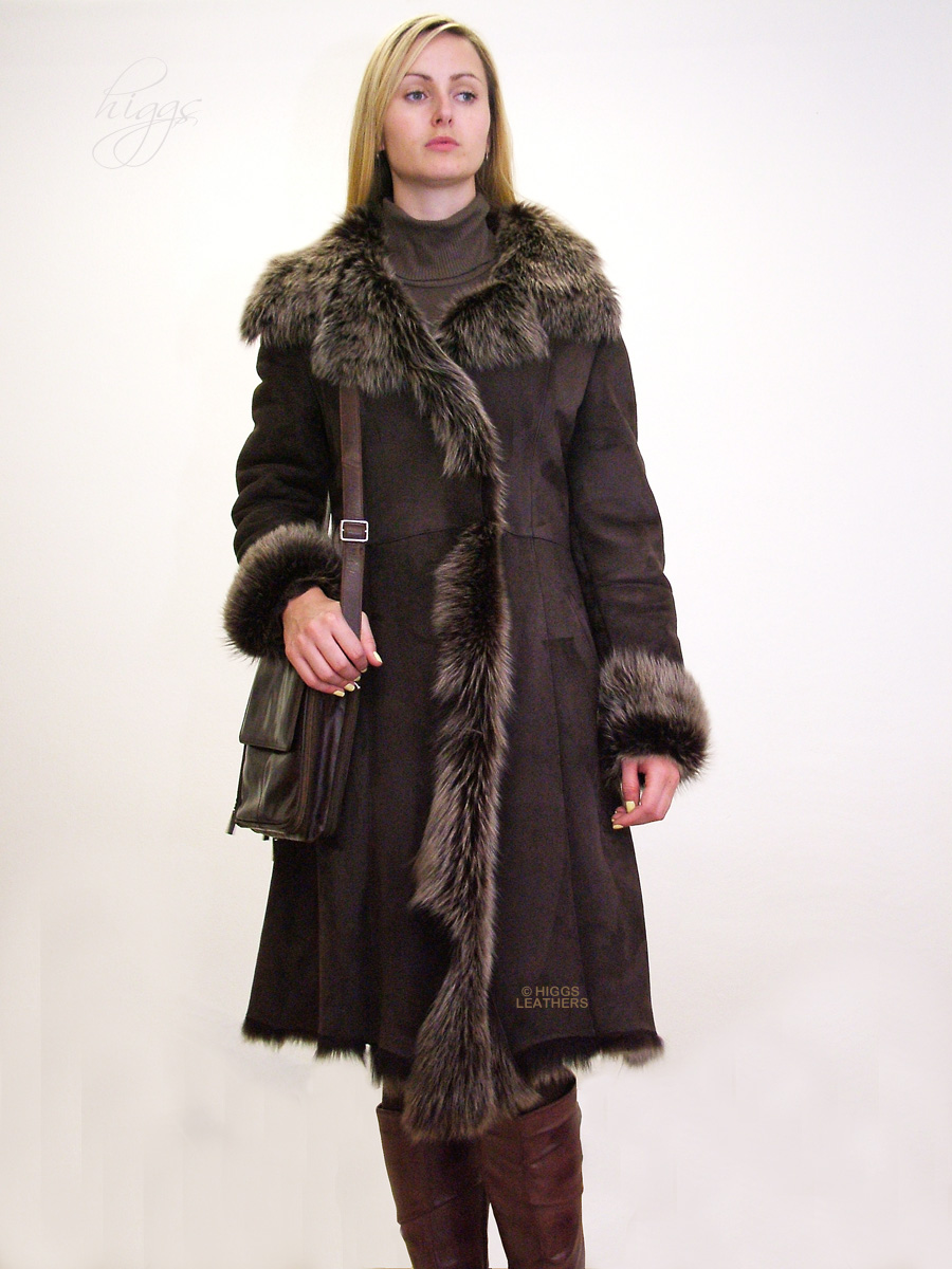 Higgs Leathers 32' to 34' bust Save £600!  Demi (ladies Toscana Shearling coat)