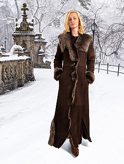 Higgs Leathers {30' to 32' bust UNDER HALF PRICE!}  Greta (Toscana Shearling coat) ONE ONLY - EXTRA LONG - EXTRA SMALL!