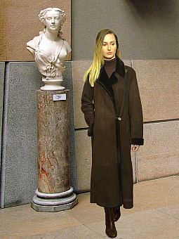 Higgs Leathers {38' to 40' bust SAVE £600!}  Justine (ladies Merino Shearling coat)