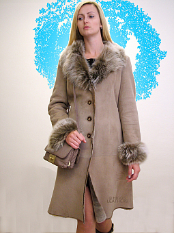 Higgs Leathers Katya (ladies slimline Merino Shearling coat)