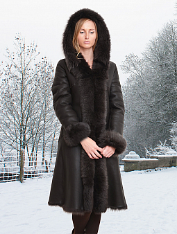 Higgs Leathers Nazima (Nappa Toscana Hooded Shearling coat)