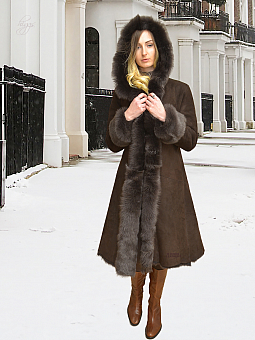 Higgs Leathers Nazima (Hooded Toscana Shearling coat)