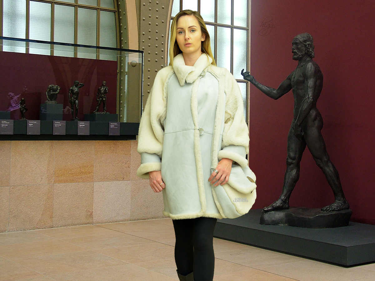 Higgs Leathers {36' to 40' bust HALF PRICE!}  Romanas (Designer Shearling coat)