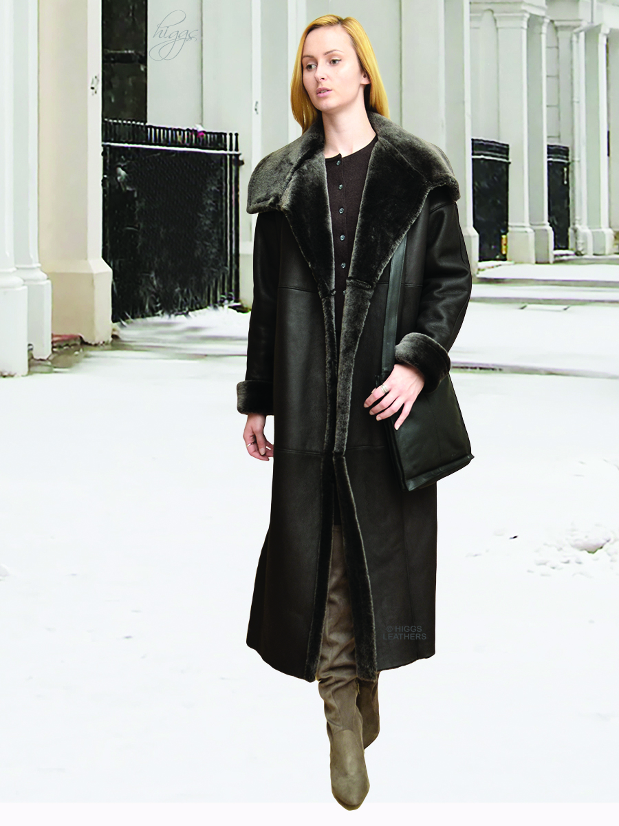 Higgs Leathers {36' to 48' bust}  Shevetta (ladies Nappa Merino Shearling coat) So light - So soft - So warm!