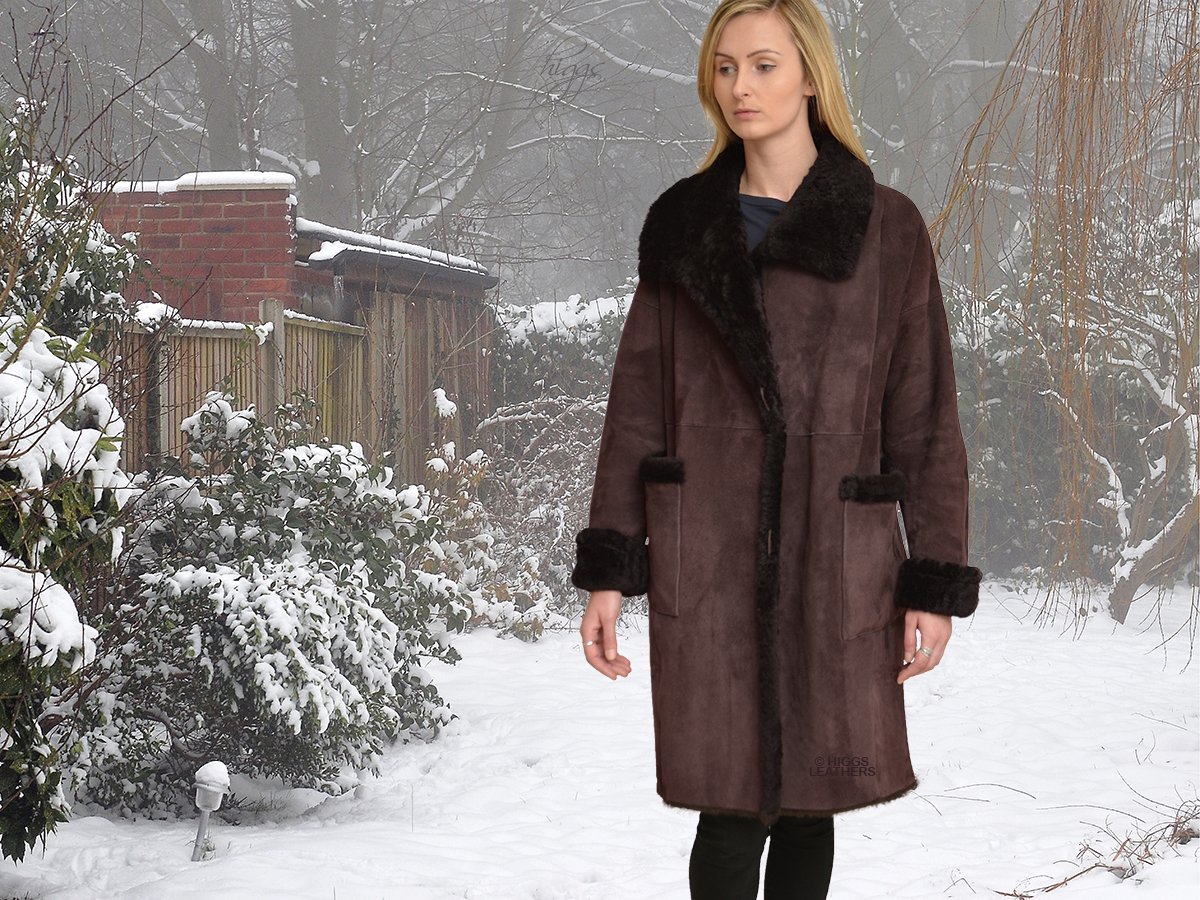 Higgs Leathers {ONE ONLY SAVE £500!}  Siobhan (ladies easy fitting Shearling coat) From our wonderful selections of women's Shearling coats!