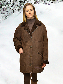 Higgs Leathers ONE ONLY  Wessex (women's classic Shearling 3/4 coat)
