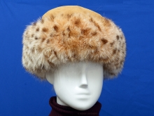 Higgs Leathers ONE ONLY SAVE £100!  Coralise (Beige Shearling and Fox Cossack hat)