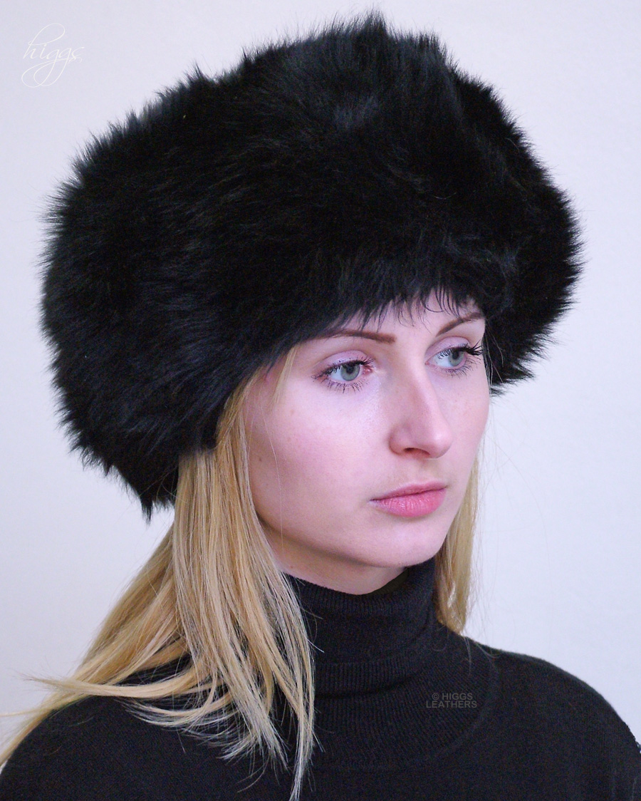 Higgs Leathers Diva (ladies Black Sheepskin Cossack hats)