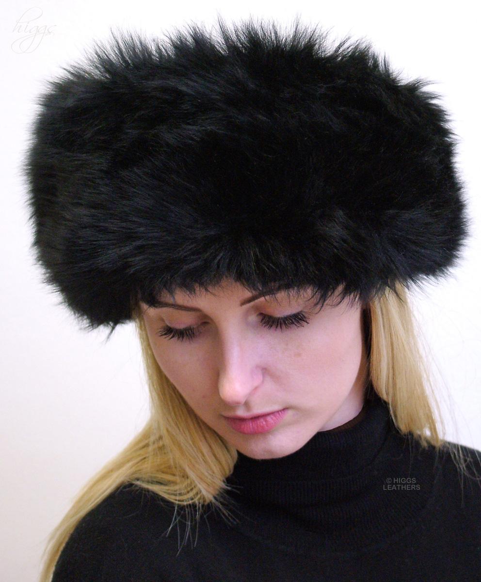 Higgs Leathers    Divette (ladies petite Cossack Black Sheepskin hats) ad6da146681
