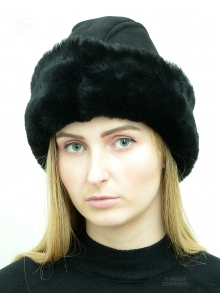 Higgs Leathers NEW!  Eugenie (ladies Black Merino Shearling hat)