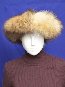 Higgs Leathers FEW ONLY!    Fayette (ladies natural Red Cross Fox Huff headband)