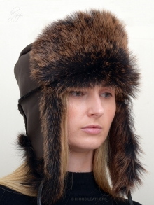 Higgs Leathers FEW ONLY!  Lara (ladies Nappa Toscana Shearling hat)