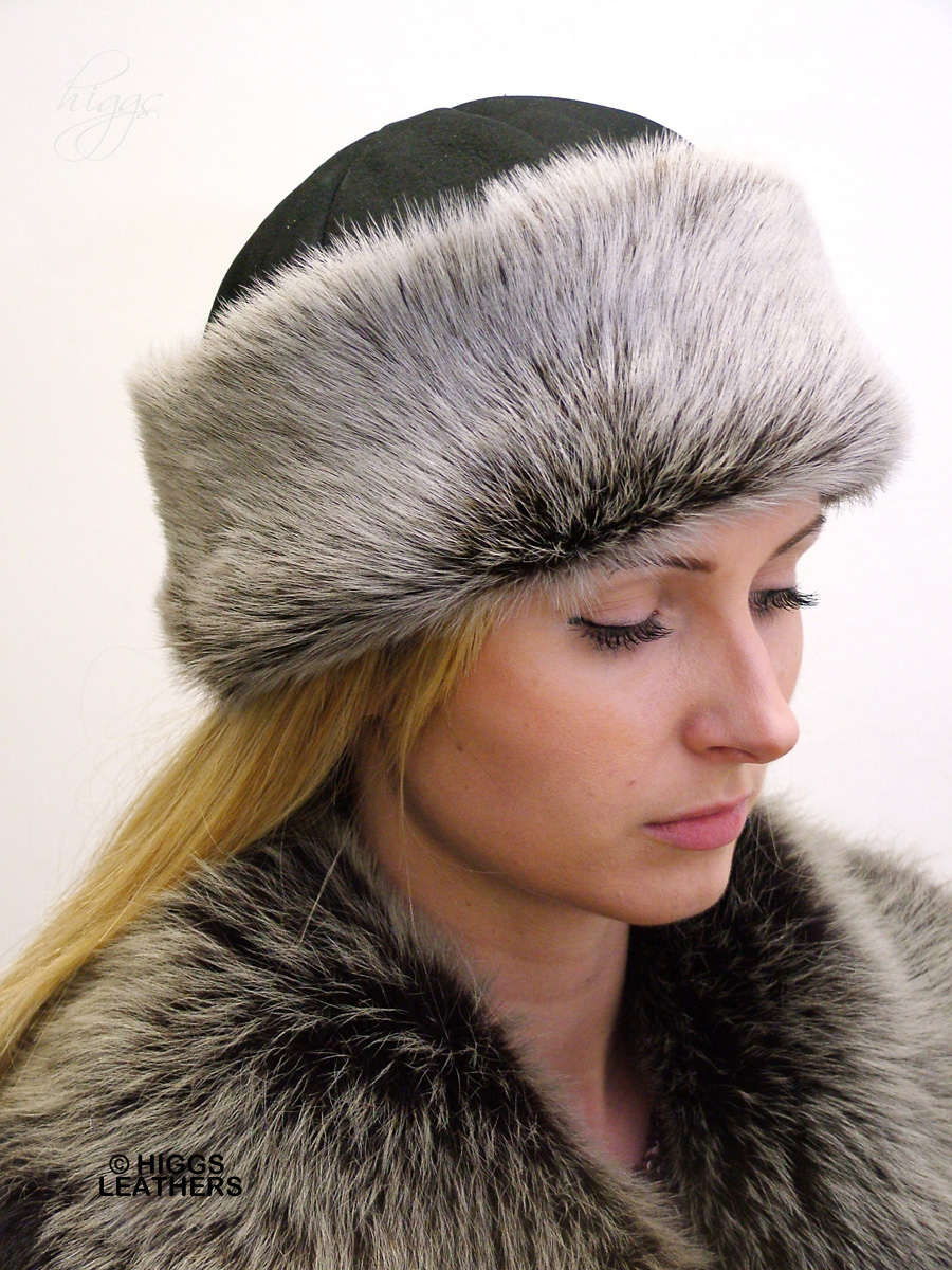 Higgs Leathers {LAST FEW!} Suki (ladies Toscana trim Shearling hat)