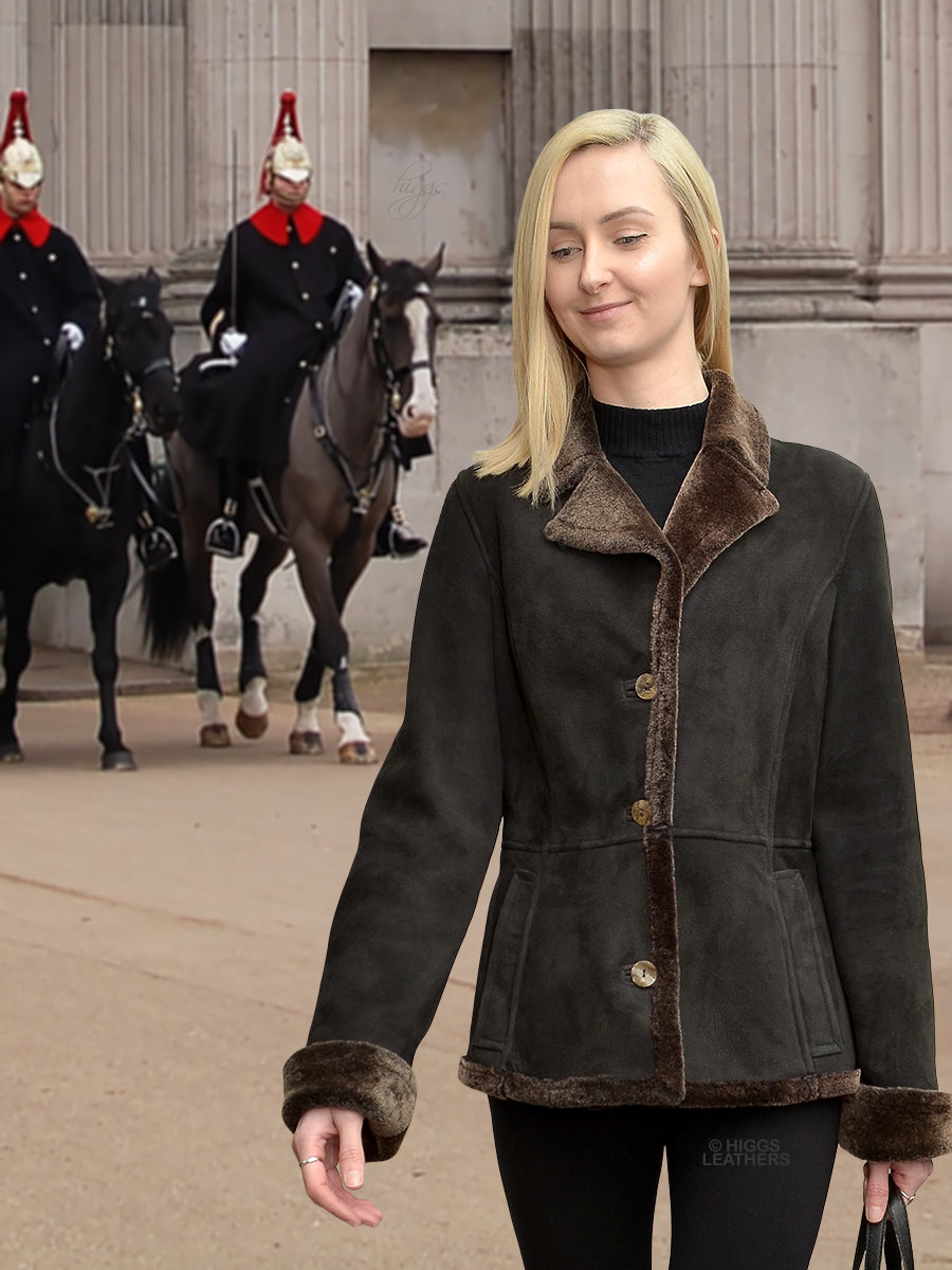 Higgs Leathers {36' bust HALF PRICE!}  Annie (womens Merino Shearling Jacket) ONE ONLY - SAVE £300!