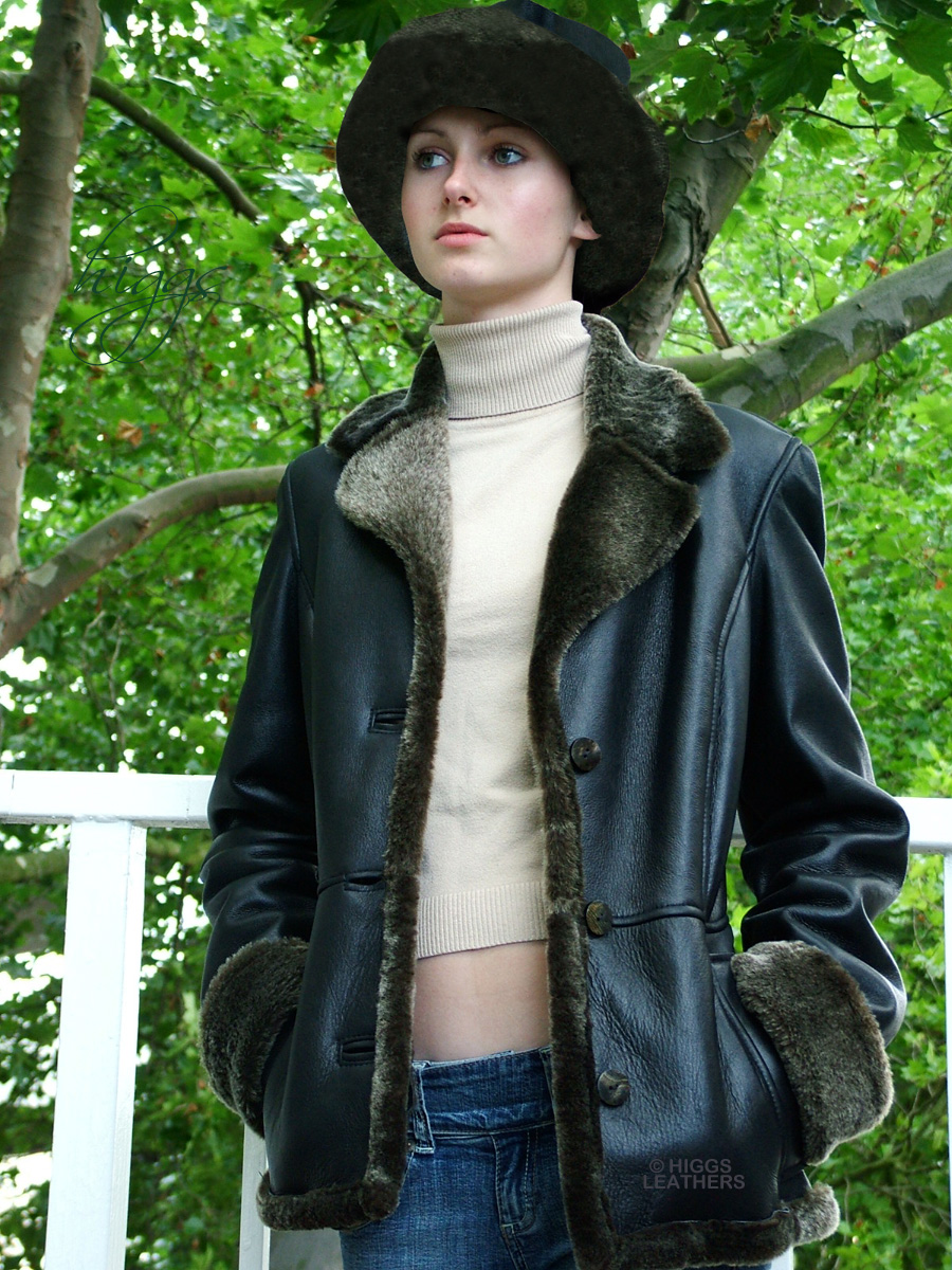 Higgs Leathers {HALF PRICE SAVE £350!}  Annie (womens Merino Shearling Jackets) TWO ONLY - SAVE £350!