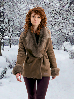 Higgs Leathers Antoinette (Toscana trimmed Merino Shearling jacket)