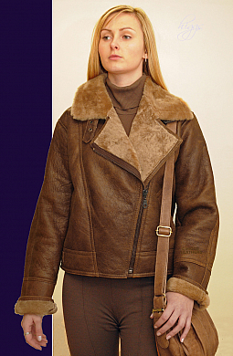 Higgs Leathers ALL SOLDt  Aviana (ladies Sheepskin Aviator Jacket)