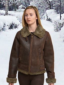 Higgs Leathers SOLD!  Fleeta (ladies Sheepskin flying jacket)