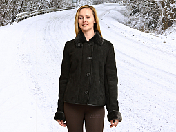 Higgs Leathers Joyce (ladies fitted Black Shearling jackets)