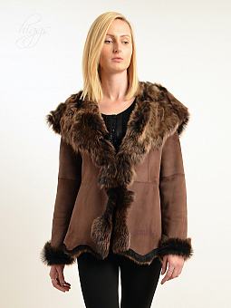 Higgs Leathers Veroniqua (ladies hooded Toscana Shearling jacket)