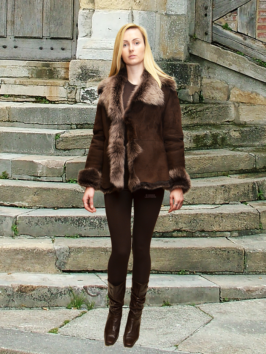 6790e88b08d26 Higgs Leathers Veronique (ladies Toscana Shearling jackets)