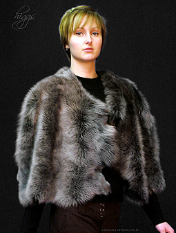 Higgs Leathers {ALL SIZES}  Carina (ladies Toscana Shearling Cape)