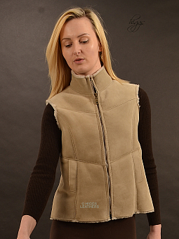 Higgs Leathers HALF PRICE SAVE £123!  Gella (ladies Shearling Gilets)