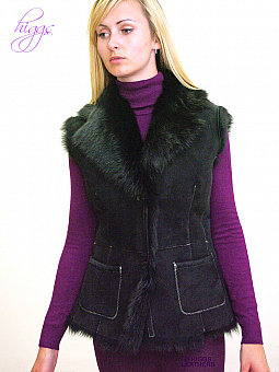 Higgs Leathers ALL SOLD!  Gelray (ladies Black Toscana gilet)