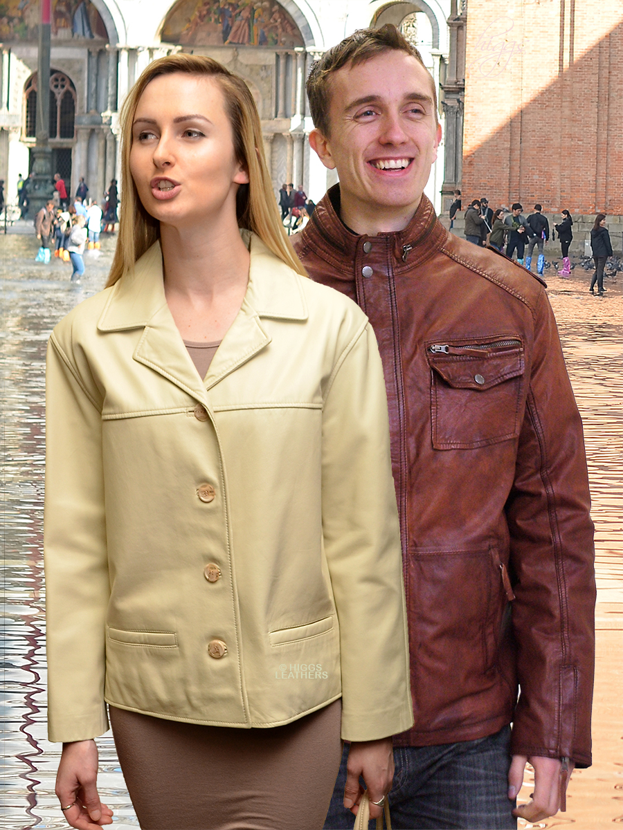 Higgs Leathers UNDER HALF PRICE! Jenny (ladies classic short Nappa leather jacket)