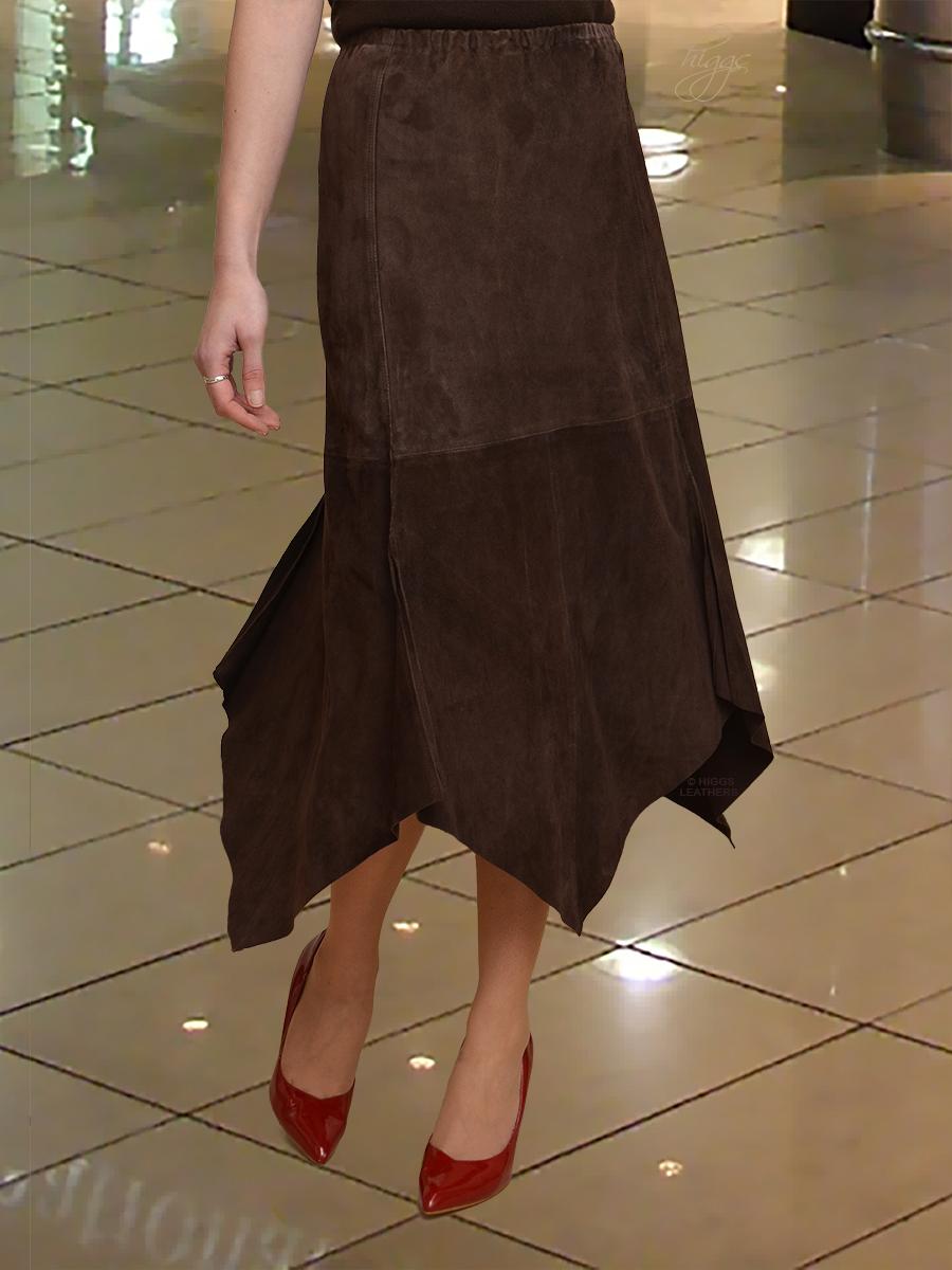d892d4b3a26d Higgs Leathers {UNDER HALF PRICE!} Amanda (elasticated waist Kid Suede  skirts)