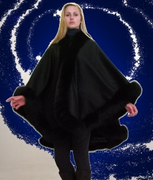 Higgs Leathers ALL SIZES!  Zaharene (Designer style Black Cashmere cape)