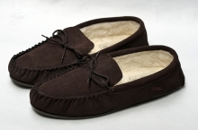 Higgs Leathers Sizes 7 to 12  Morley (mens wool lined slippers)