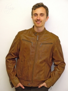 Higgs Leathers ALL SOLD!  Baccus  (men's Tan Leather Biker jacket)