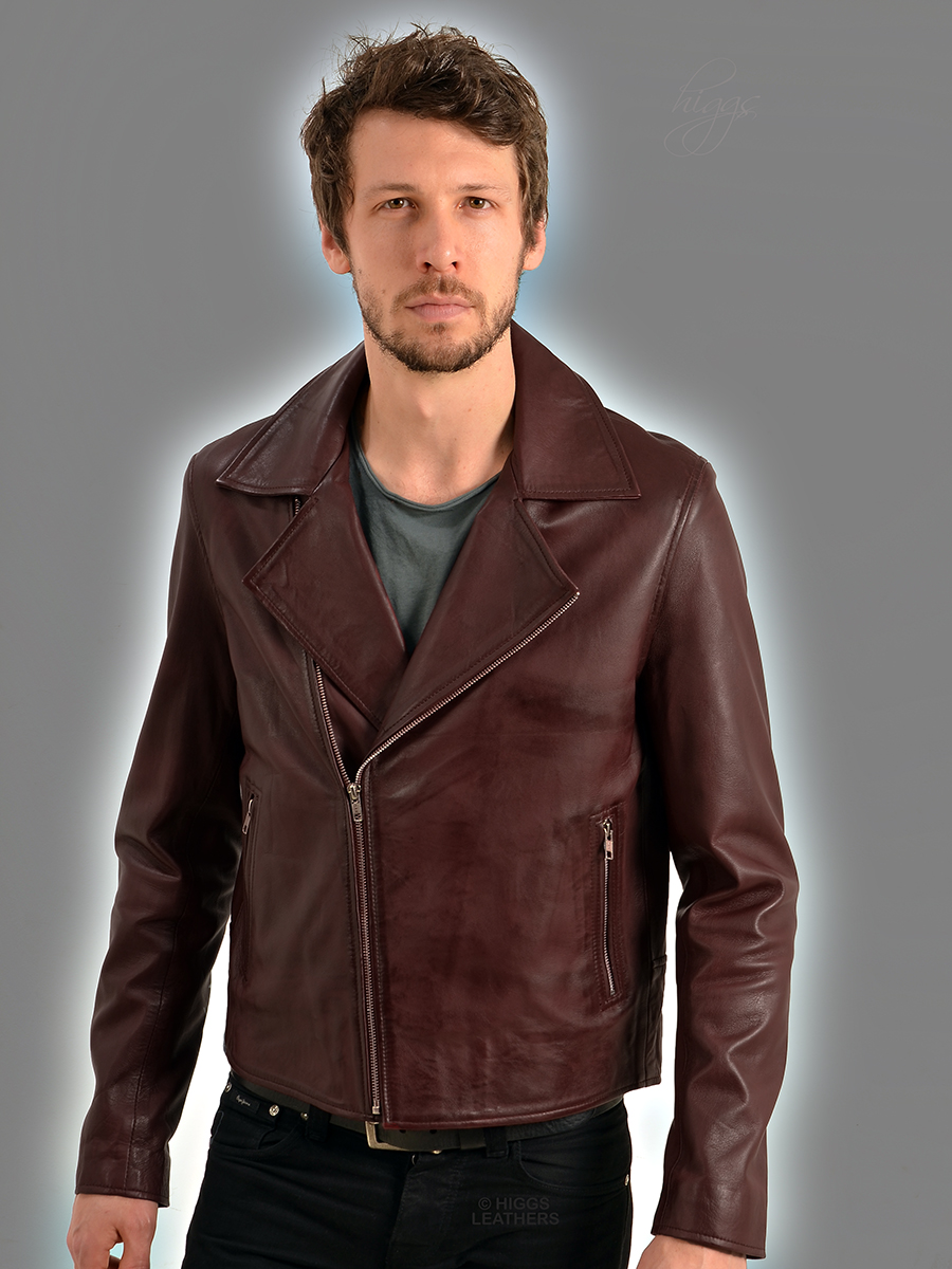 Higgs Leathers LAST TWO SAVE £40!  Brant (men's Leather Biker jacket) From our wide range of Biker style Leather jackets for men!