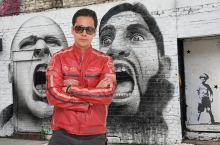 Higgs Leathers ALL SOLD!  Buzz (men's Red Leather Biker jackets)