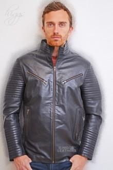 Higgs Leathers NEW!  Paddy (men's Black Leather Biker jackets)