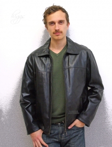 Higgs Leathers ALL SOLD!  Zack (black leather biker jackets for men)