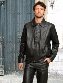 Higgs Leathers NEW!  Billy (men's Black Leather Blouson jackets)
