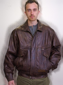 Higgs Leathers ALL SOLD!  Jerry (men's Antique Brown Leather blouson jackets)