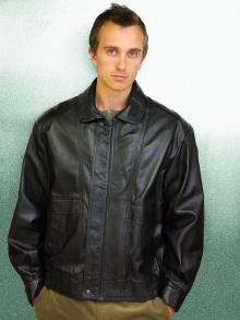 Higgs Leathers ALL SOLD! Kurt (men's Black Leather Blouson jacket)