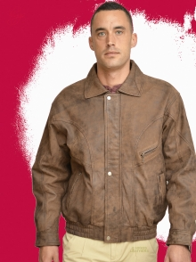 Higgs Leathers NEW PICTURE!  Roy (men's Nubuck leather blouson jackets)