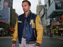 Higgs Leathers Burl (leather Varsity jackets for men)