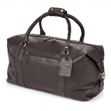 Higgs Leathers {NEW!} Sandown (Black Leather overnight luggage bag)