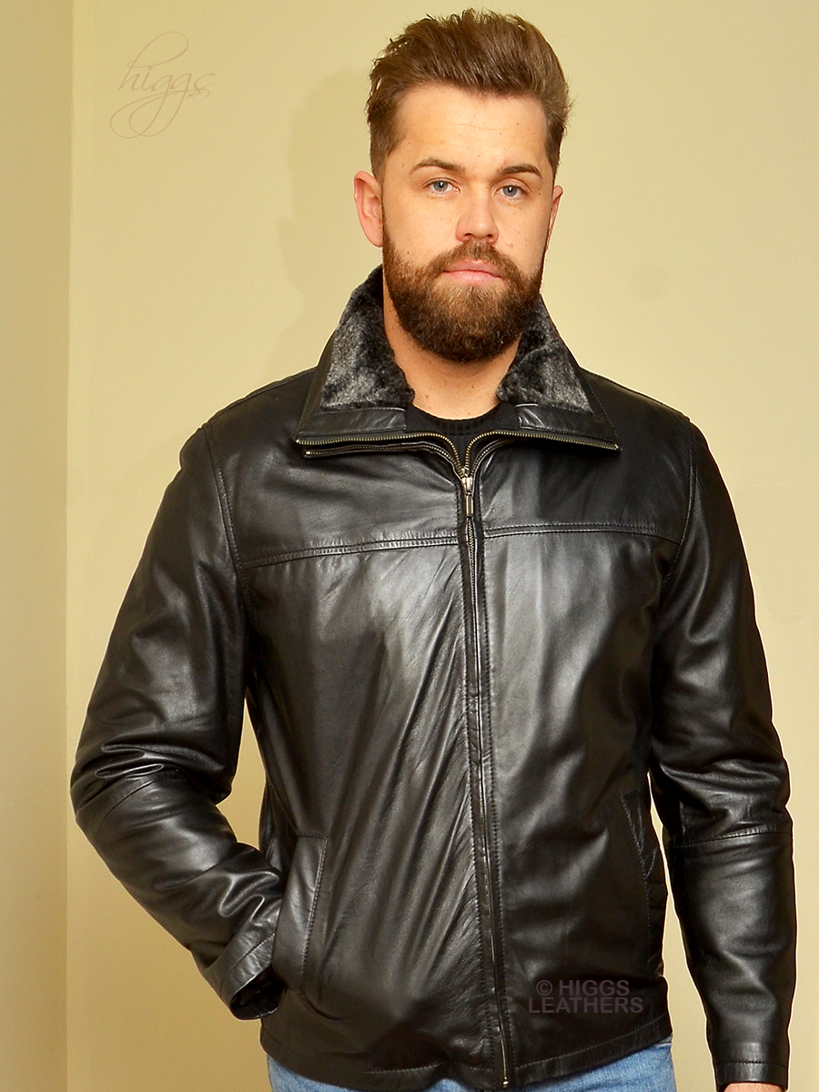 Higgs Leathers {ONE ONLY SAVE £80!}  Lincoln   (warm lined Black Leather jacket)